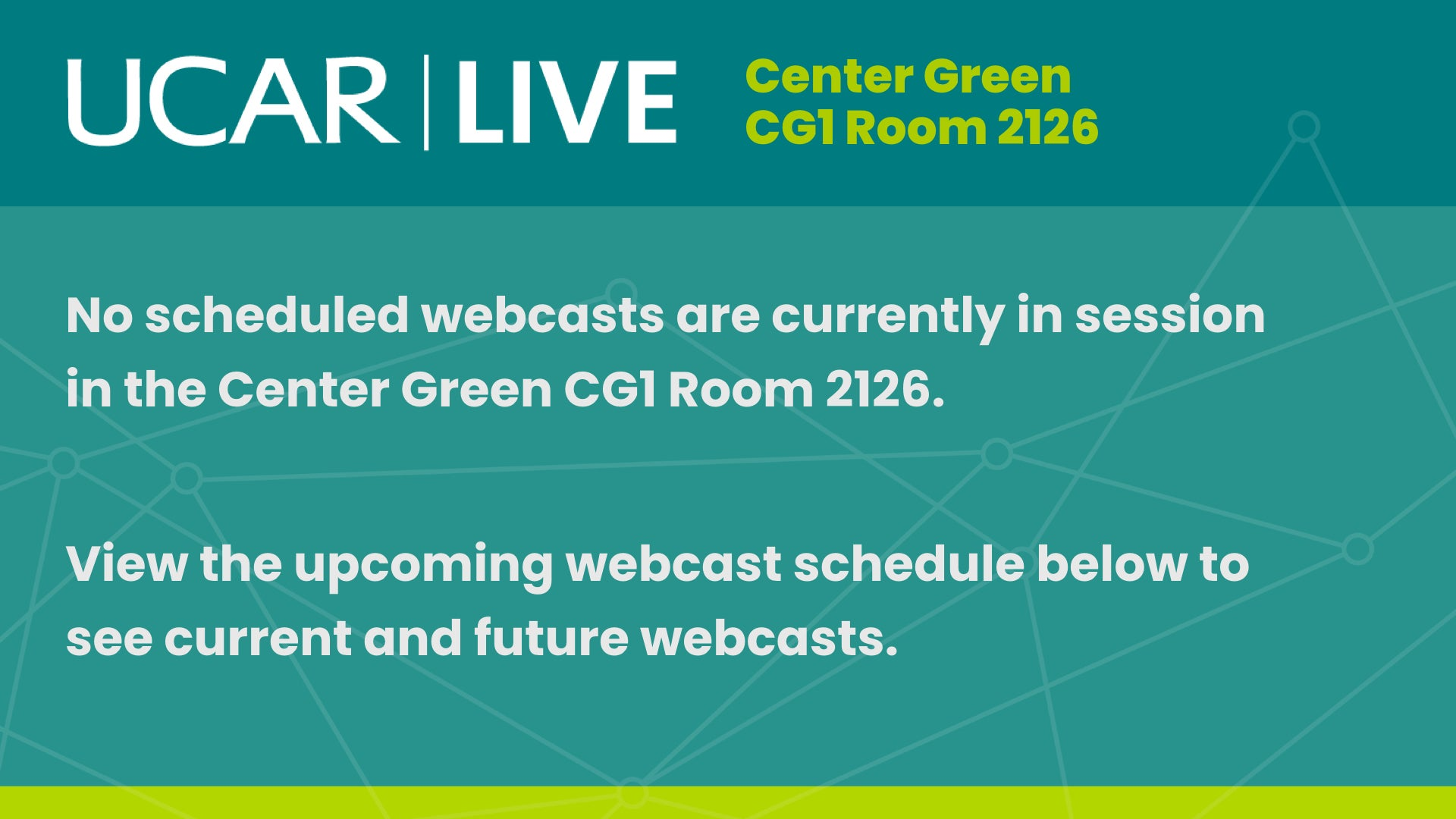 No webcast is currently in session, select another room.