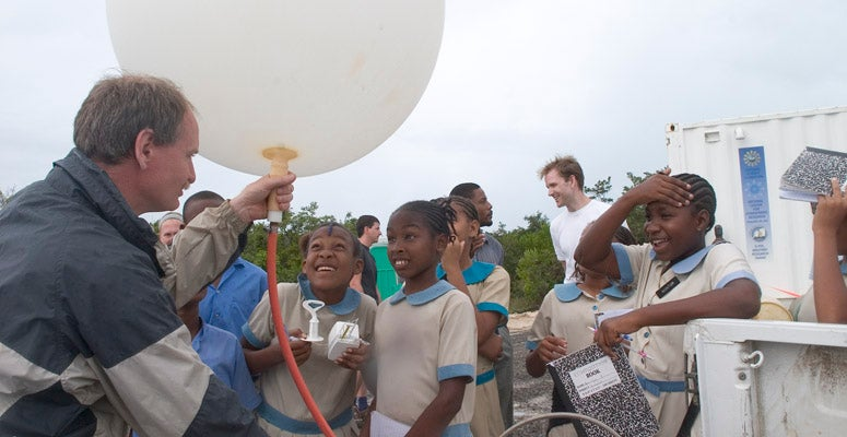Students in Ghana during the RICO field campaign
