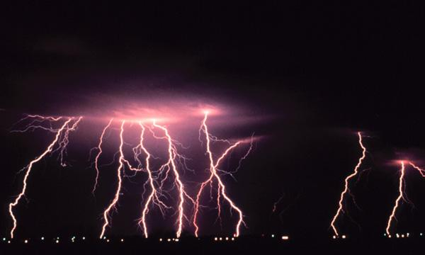 Lightning strikes are caught on camera