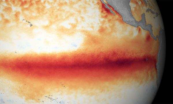 El Niño sea surface temperature anomalies