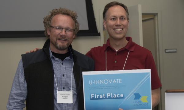 1st place winners Jonathan Vigh and Caspar Ammann